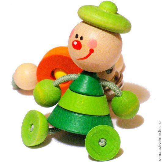 Аксессуары для колясок ручной работы. Ярмарка Мастеров - ручная работа. Купить КЛОУН. Деревянная игрушка-подвеска для коляски или автокресла. Handmade.
