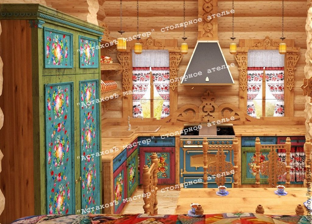 Кухонный гарнитур с росписью мебель для кухни в хрущевке на заказ цены