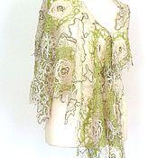Аксессуары handmade. Livemaster - original item Lenok-year-old delicate shawl -transformer. Handmade.