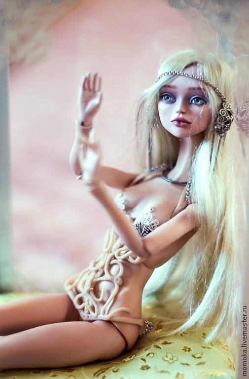 Коллекционные куклы ручной работы. Ярмарка Мастеров - ручная работа. Купить Авторская шарнирная кукла. ПРОДАНА!!!. Handmade. Бежевый