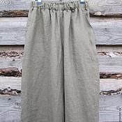 Одежда handmade. Livemaster - original item Pants mens linen. Handmade.