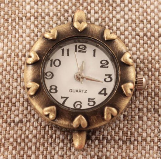 Для украшений ручной работы. Ярмарка Мастеров - ручная работа. Купить Основа для часов Сердечки, античная бронза (1шт). Handmade.