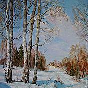 """Картины и панно ручной работы. Ярмарка Мастеров - ручная работа """" Зимняя дорога"""". Handmade."""