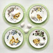 Посуда handmade. Livemaster - original item Porcelain painting Easter plates. Handmade.