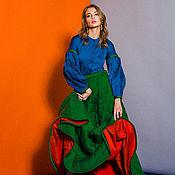 Одежда ручной работы. Ярмарка Мастеров - ручная работа Утепленная стеганая юбка етти. Handmade.
