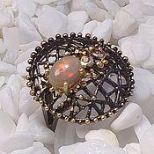 Украшения handmade. Livemaster - original item Silver ring with opal.. Handmade.