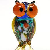 Для дома и интерьера handmade. Livemaster - original item Interior figurine made of colored glass Owl K.. Handmade.