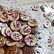 Шитье ручной работы. Ярмарка Мастеров - ручная работа. Купить Пуговицы кокосовые с рисунком. Handmade. Пуговицы, пуговицы декоративные