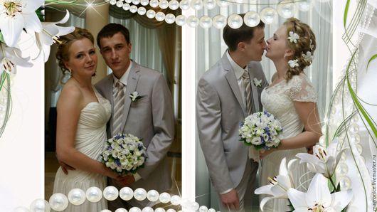 Свадебные фотоальбомы ручной работы. Ярмарка Мастеров - ручная работа. Купить Свадебное слайд-шоу. Handmade. Комбинированный, видеопрезентация