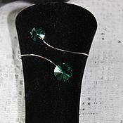 Украшения handmade. Livemaster - original item Radiovolny bracelet with Swarovski crystals Cleopatra. Handmade.