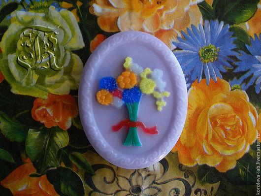 """Мыло ручной работы. Ярмарка Мастеров - ручная работа. Купить Сувенирное мыло ручной работы """"Букет цветов"""". Handmade."""
