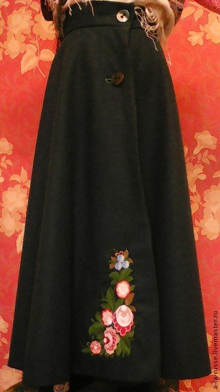 """Одежда ручной работы. Ярмарка Мастеров - ручная работа. Купить Юбка зимняя шерстяная """"Настенька"""". Handmade. Морская волна, тепло"""