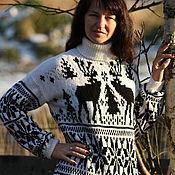 Одежда ручной работы. Ярмарка Мастеров - ручная работа Чудные олени Свитер с оленями. Handmade.