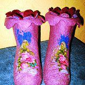 """Обувь ручной работы. Ярмарка Мастеров - ручная работа Валеночки домашние """"Полянка"""". Handmade."""