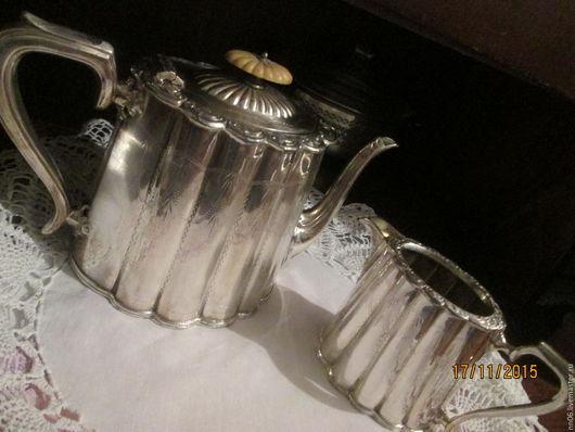 Винтажная посуда. Ярмарка Мастеров - ручная работа. Купить Антикварная чайная пара. Англия. Шеффилд.1940-1950г.г.. Handmade.