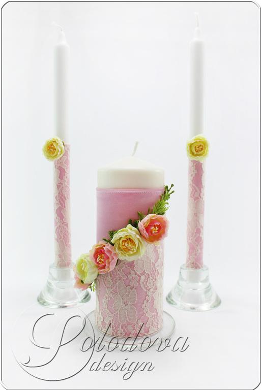 Свадебные свечи. Семейный очаг,свадебные свечи,набор свечей для свадьбы.