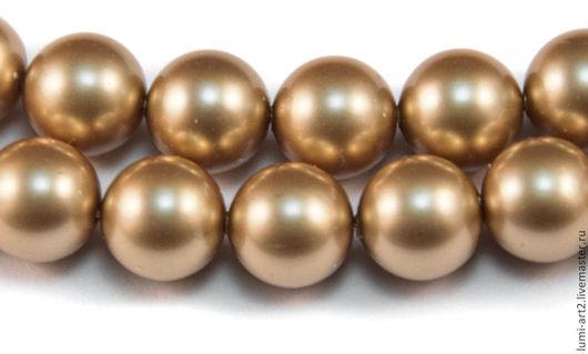 Для украшений ручной работы. Ярмарка Мастеров - ручная работа. Купить 8мм Vintage Gold Жемчуг Сваровски Swarovski Pearl 10 шт. Handmade.