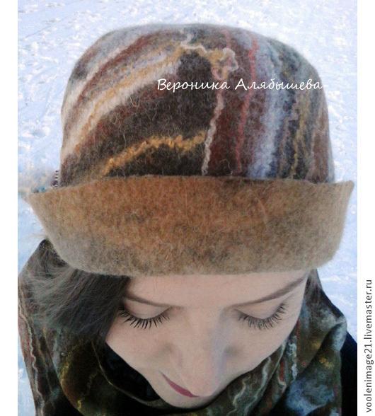 тулья шапочки тонирована коричневой краской