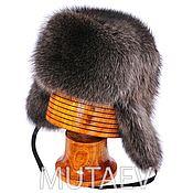 Аксессуары handmade. Livemaster - original item Men`s one-piece raccoon fur ushanka. Handmade.