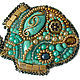 Brooches handmade. Livemaster - handmade. Buy Brooch 'Fish miniature' turquoise.Gift, gift for birthday, the woman, metal