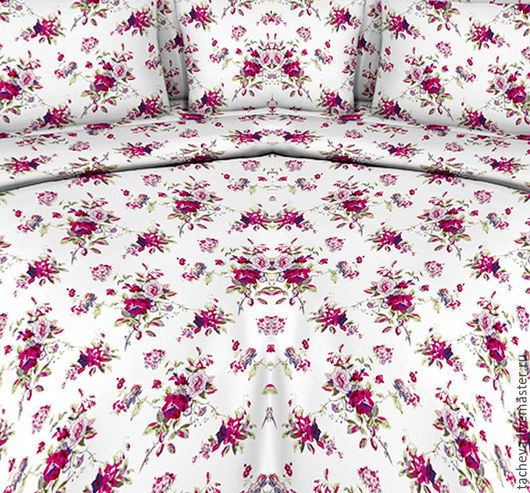 Текстиль, ковры ручной работы. Ярмарка Мастеров - ручная работа. Купить Комплект постельный-розовые сны. Handmade. Комбинированный