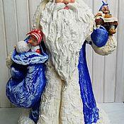 Куклы и пупсы ручной работы. Ярмарка Мастеров - ручная работа Дед Мороз из ваты, под ёлку. Handmade.