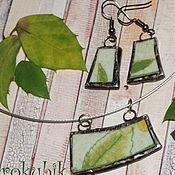 """Украшения ручной работы. Ярмарка Мастеров - ручная работа Комплект """"Счастливая зелень"""" керамика. Handmade."""