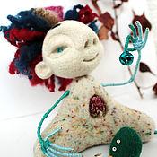 """Куклы и игрушки ручной работы. Ярмарка Мастеров - ручная работа Войлочная фигурка """" Киш Цветущий"""". Handmade."""