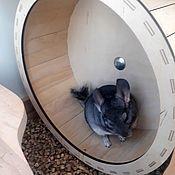Аксессуары для питомцев ручной работы. Ярмарка Мастеров - ручная работа Беговое колесо 35 см для шиншиллы или дегу. Handmade.