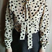 Одежда handmade. Livemaster - original item Blouse with collar tie. Handmade.