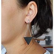 Украшения handmade. Livemaster - original item Triangular earrings on chains. Handmade.