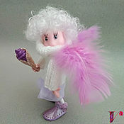 Куклы и пупсы ручной работы. Ярмарка Мастеров - ручная работа Кукла Ангел черничного мороженого Виолетта. Handmade.