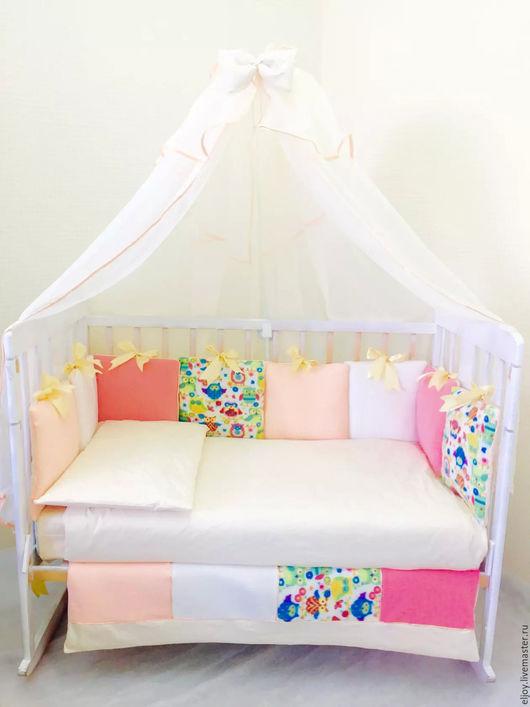 """Для новорожденных, ручной работы. Ярмарка Мастеров - ручная работа. Купить Комплекты в кроватку """"Радость"""". Handmade. Комплект в кроватку, подушка"""