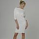 """Платье """"Ромб с рукавами"""", белое платье трансформер, платье из джерси"""