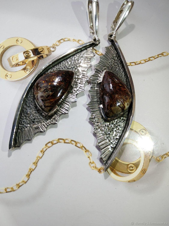 Серьги с астрофилитом в серебре (№27), Серьги классические, Симферополь,  Фото №1