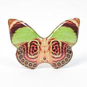 Украшения ручной работы. Ярмарка Мастеров - ручная работа Кольцо - Салатово-коричневая бабочка. Handmade.