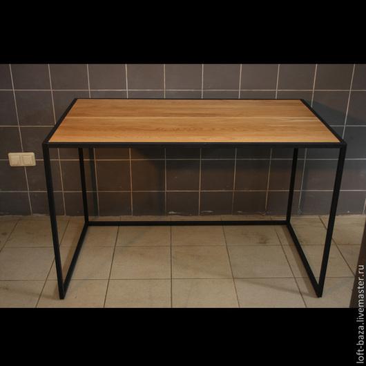 Мебель ручной работы. Ярмарка Мастеров - ручная работа. Купить Стол письменный (компьютерный) в стиле Лофт. Handmade. Коричневый, металл
