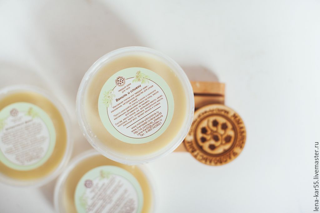 Soap fun, solid cream, after shower cream, natural cosmetic cream for the body