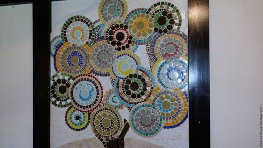 """Абстракция ручной работы. Ярмарка Мастеров - ручная работа. Купить Панно настенное """"Древо жизни"""", мозаика. Handmade. Комбинированный, патио"""
