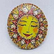 """Украшения ручной работы. Ярмарка Мастеров - ручная работа Брошка """"Моё солнце"""". Handmade."""