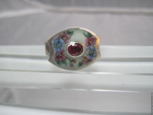 Кольца ручной работы. Ярмарка Мастеров - ручная работа. Купить кольцо с росписью. Handmade. Комбинированный, украшения из серебра, серебро с эмалью