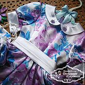 Работы для детей, ручной работы. Ярмарка Мастеров - ручная работа шелковое платье для девочки Сирень. Handmade.