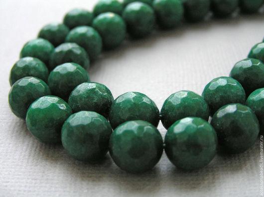 Агат Малахитовый зеленый, 9 мм. Бусины агата.