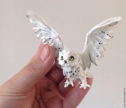 """Игрушки животные, ручной работы. Ярмарка Мастеров - ручная работа. Купить миниатюра """"Белая полярная сова"""" (снежная сова, статуэтка сова). Handmade."""