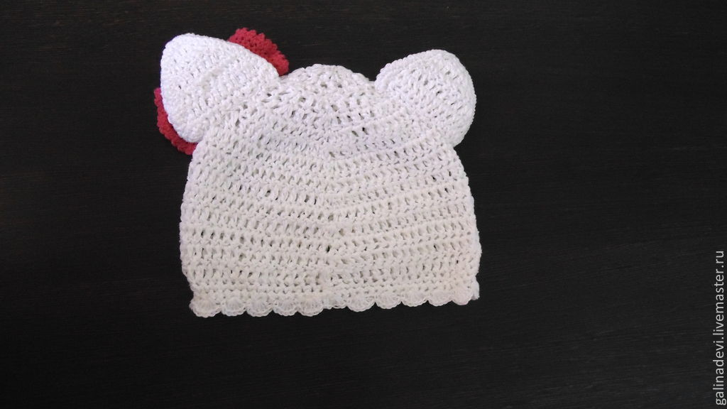 Hat Cat Hello Kitty Knitted Summer Shop Online On Livemaster
