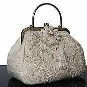 Сумки и аксессуары handmade. Livemaster - original item Handbag outlet, Vintage style, embroidery, Swarovski. Handmade.
