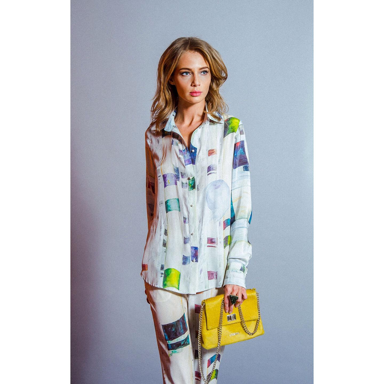3dd8eea82e9 Блузки ручной работы. Ярмарка Мастеров - ручная работа. Купить Шелковая  блузка с принтом « ...