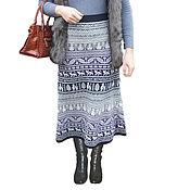 Одежда ручной работы. Ярмарка Мастеров - ручная работа Длинная вязаная юбка-перуанка. Handmade.
