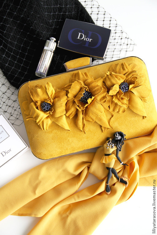 """Броши ручной работы. Ярмарка Мастеров - ручная работа. Купить комплект:брошь """"Миранда"""",клатч. Handmade. Разноцветный, подарок девушке"""