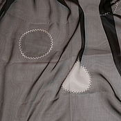Ткани ручной работы. Ярмарка Мастеров - ручная работа Отрез! Органза шелковая Armani, Ar-S53. Handmade.